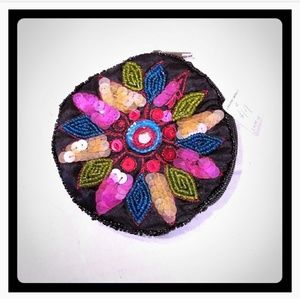 Vintage Sequin Beaded Coin Purse